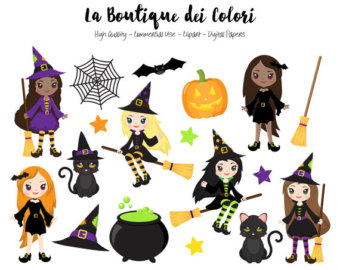 Witchcraft clipart cute witch Stickers Spooky Witch Halloween Commercial