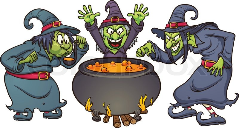Witchcraft clipart witch doctor Clip 3 Cartoon running witch