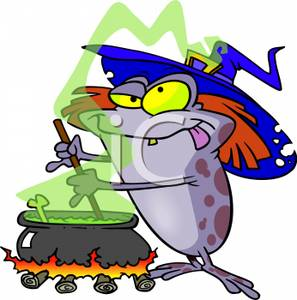 Witch clipart sorceress Tongue Wearing His Cauldron Brew