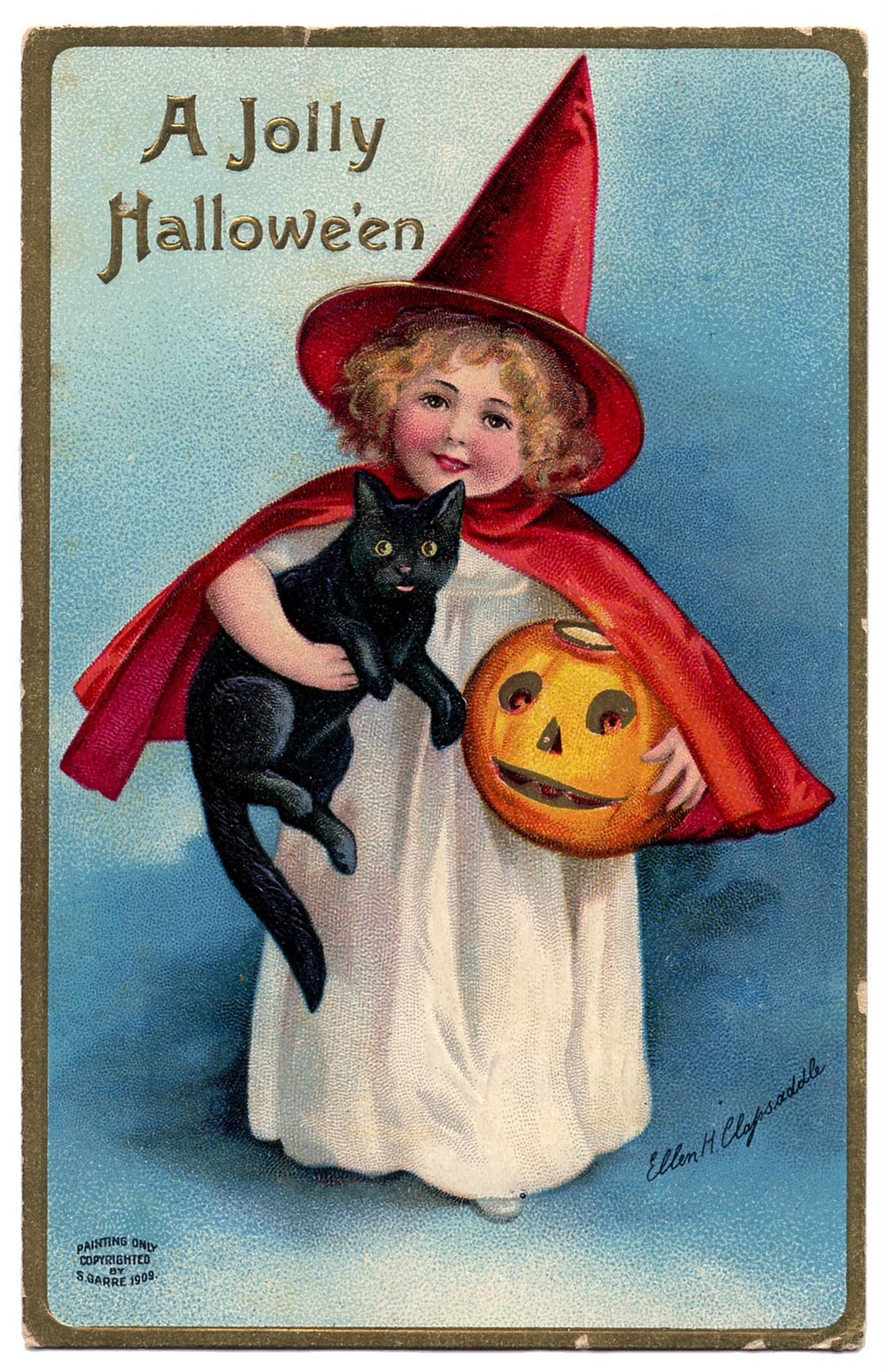 Witch clipart vintage halloween Witch LLC*: Art Art Vintage