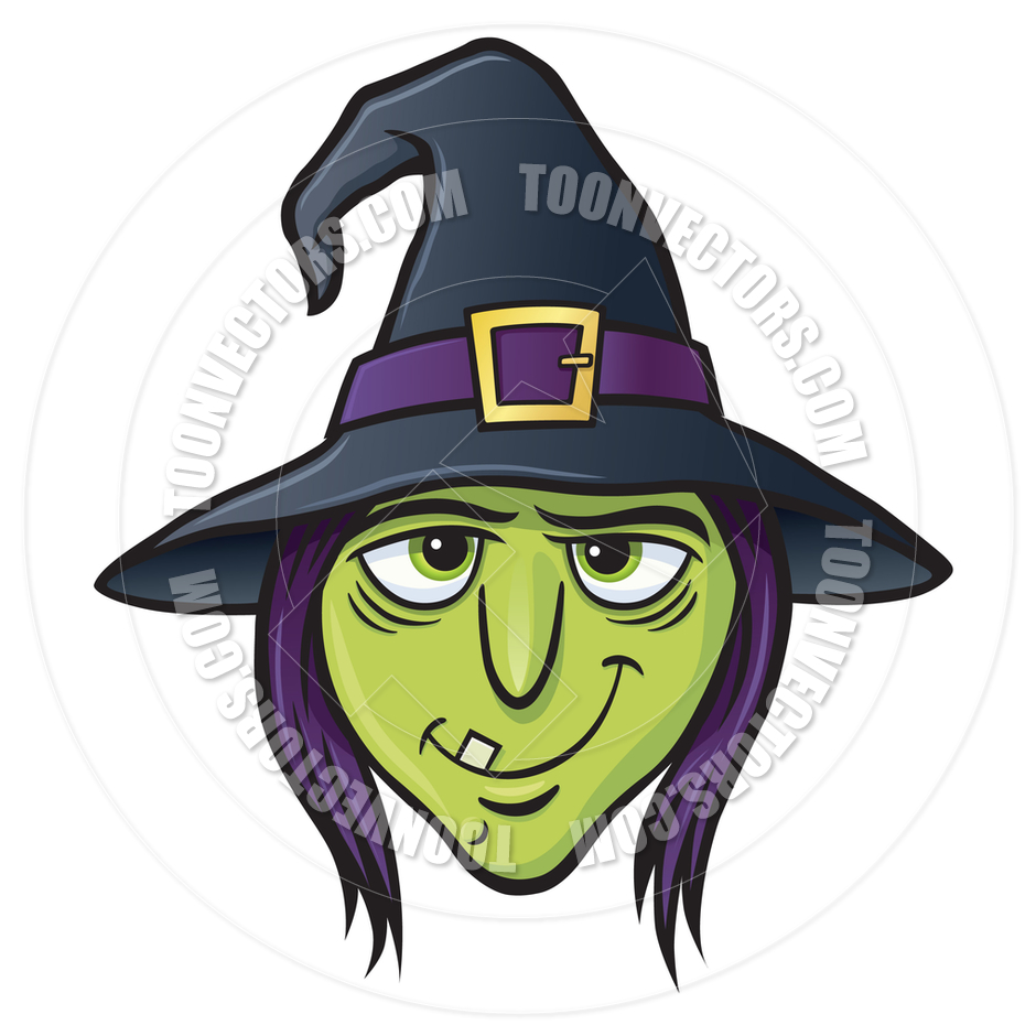 Witch clipart witch face Purple Witch's tooth with out