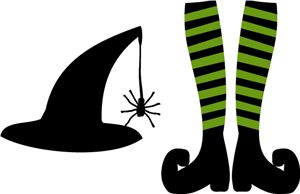 Witch Hat clipart silhouette Witch kid clipart witch hat