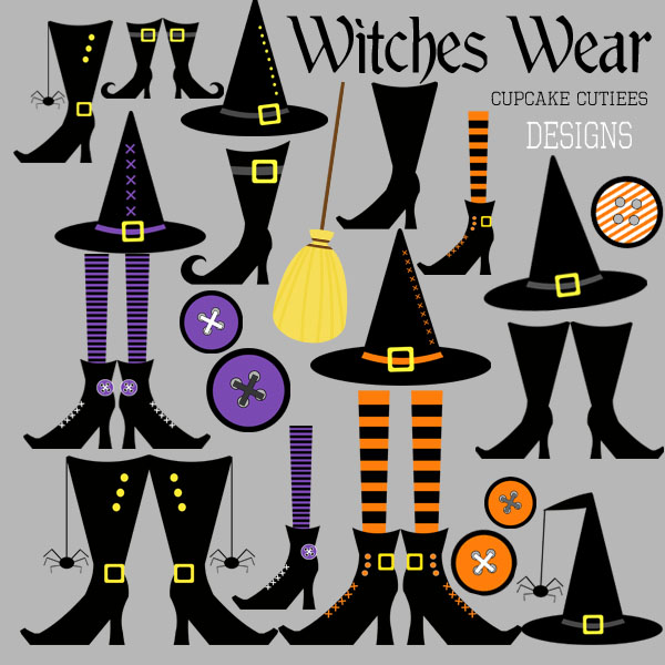 Witch clipart unusual On  shoes And halloween