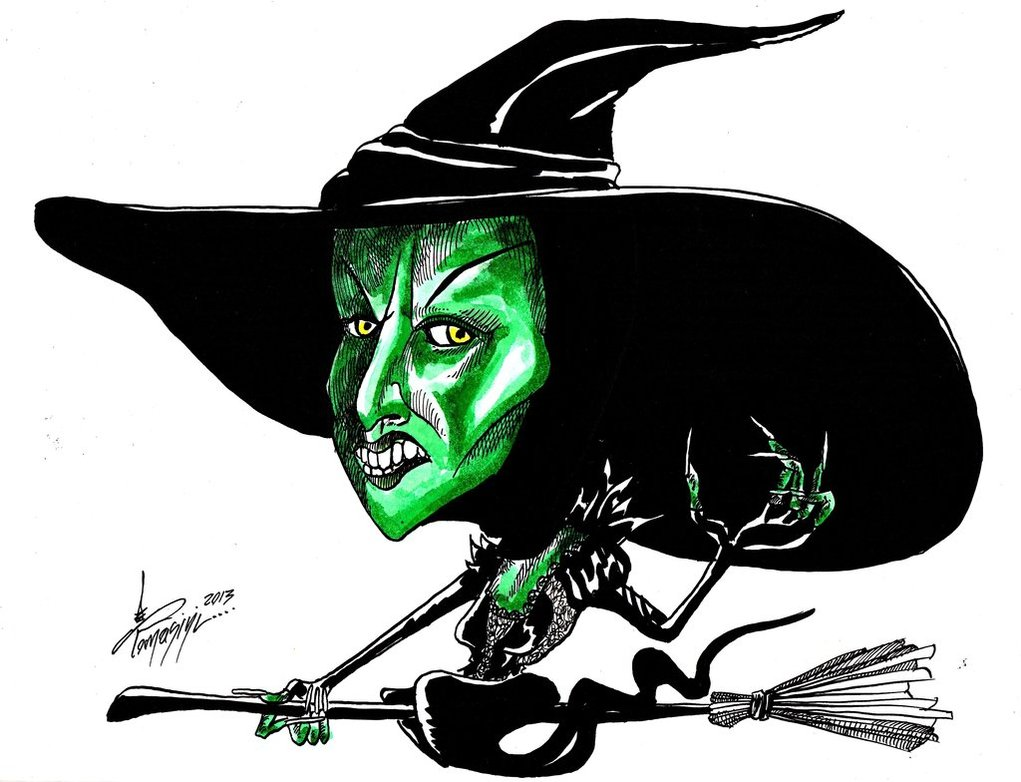 Witch clipart wizard oz witch Wicked Library Art 187 Witch