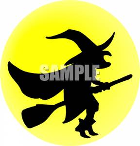Witch clipart yellow Wicked a Broom Wicked a