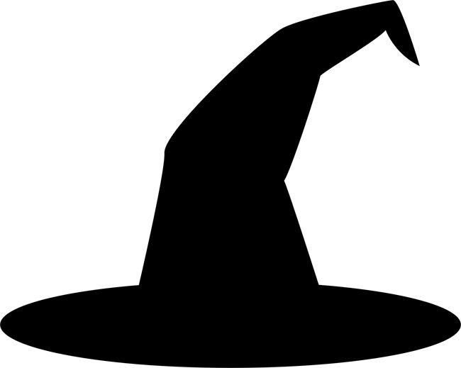 Witch Hat clipart Stencils clipart decorations halloween Witch