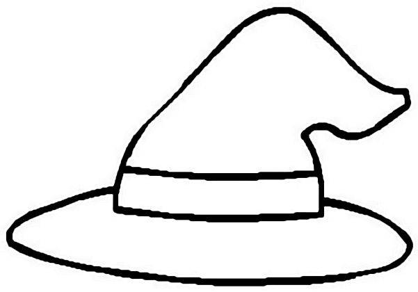 Witch Hat clipart black and white Clip Clip Hat  Free