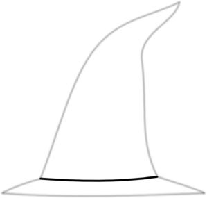 Witch Hat clipart black and white Vector at Hat royalty Clip