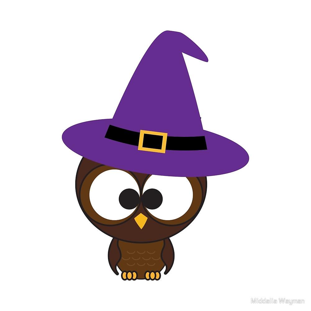 Witch Hat clipart cute owl Wayman Owl Middalia Redbubble Cute