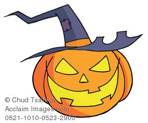 Witch Hat clipart fruit hat Pumpkin Image Pumpkin Witch Smiling