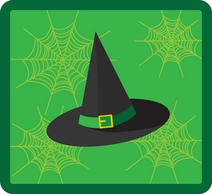 Witch Hat clipart green Halloween Hats Halloween Clipart clip