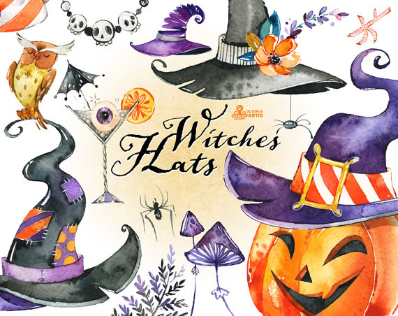 Witch Hat clipart halloween skull Cocktail mushrooms clipart clipart Witches
