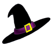 Witch Hat clipart halloween skull Happy Halloween art  hat