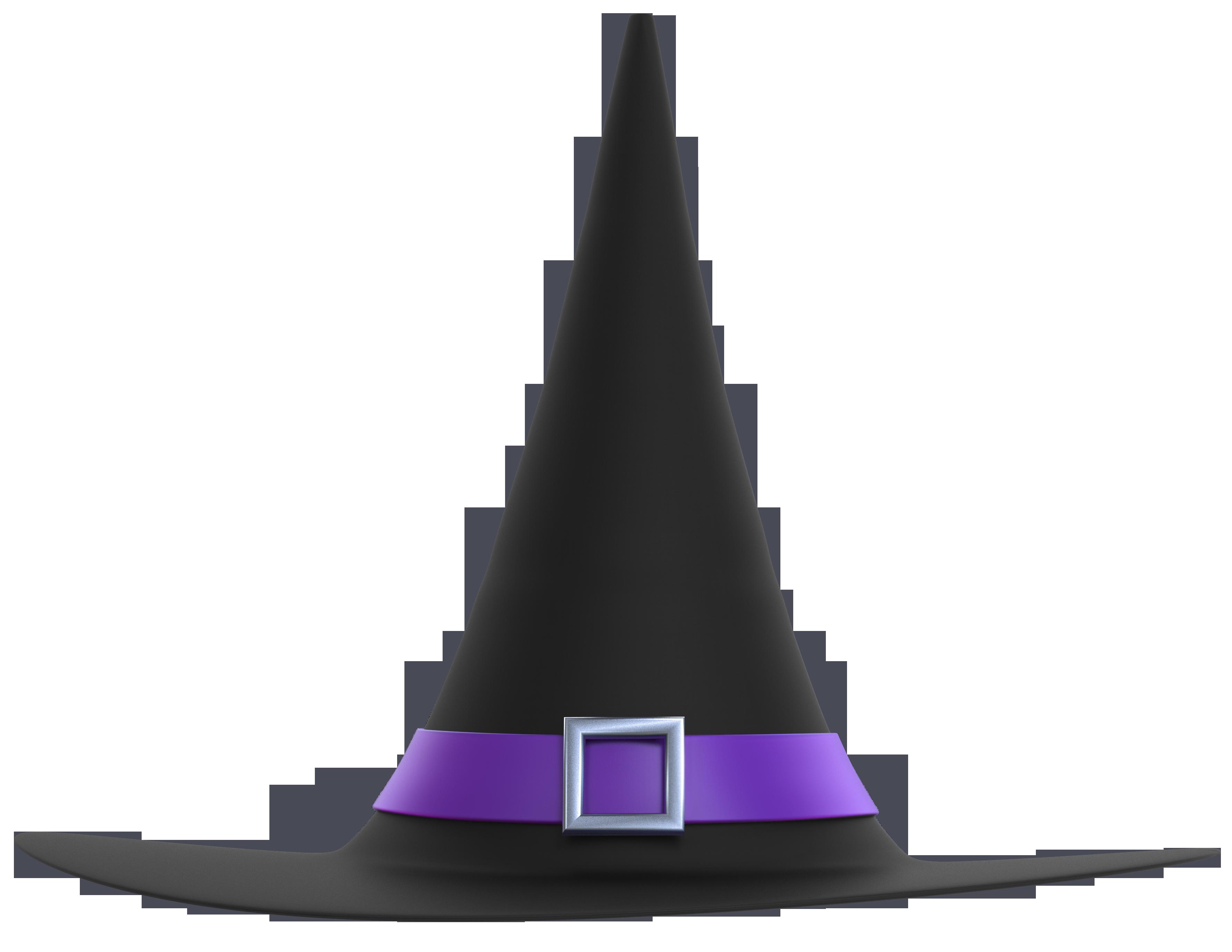 Witch Hat clipart transparent Art  Hat Black Halloween