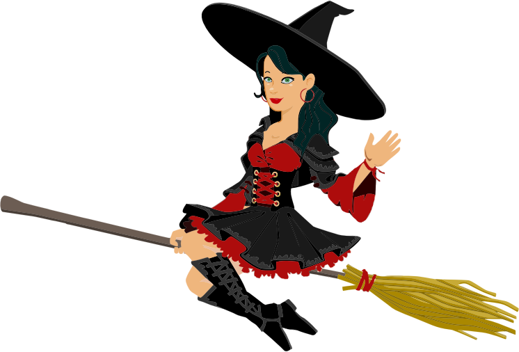 Witchcraft clipart halloween full moon Public Domain Page to Clip