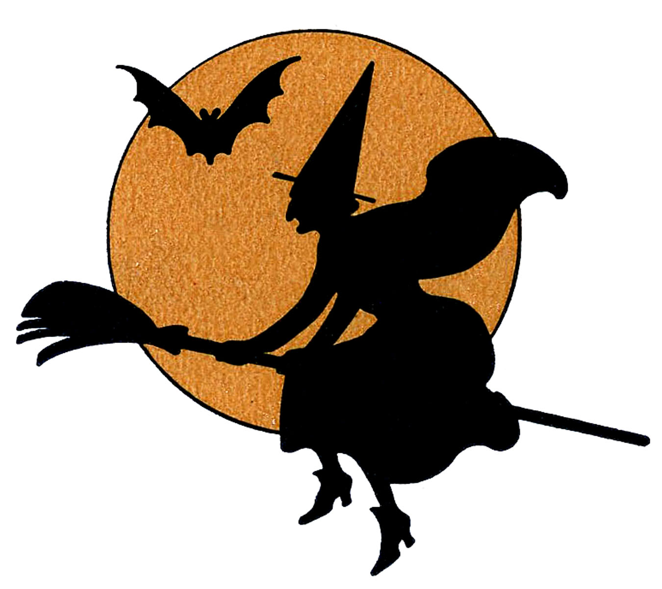 Witchcraft clipart Halloween Vintage Moon Moon The