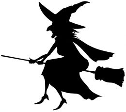 Witchcraft clipart black and white Images White Free Witch Clipart