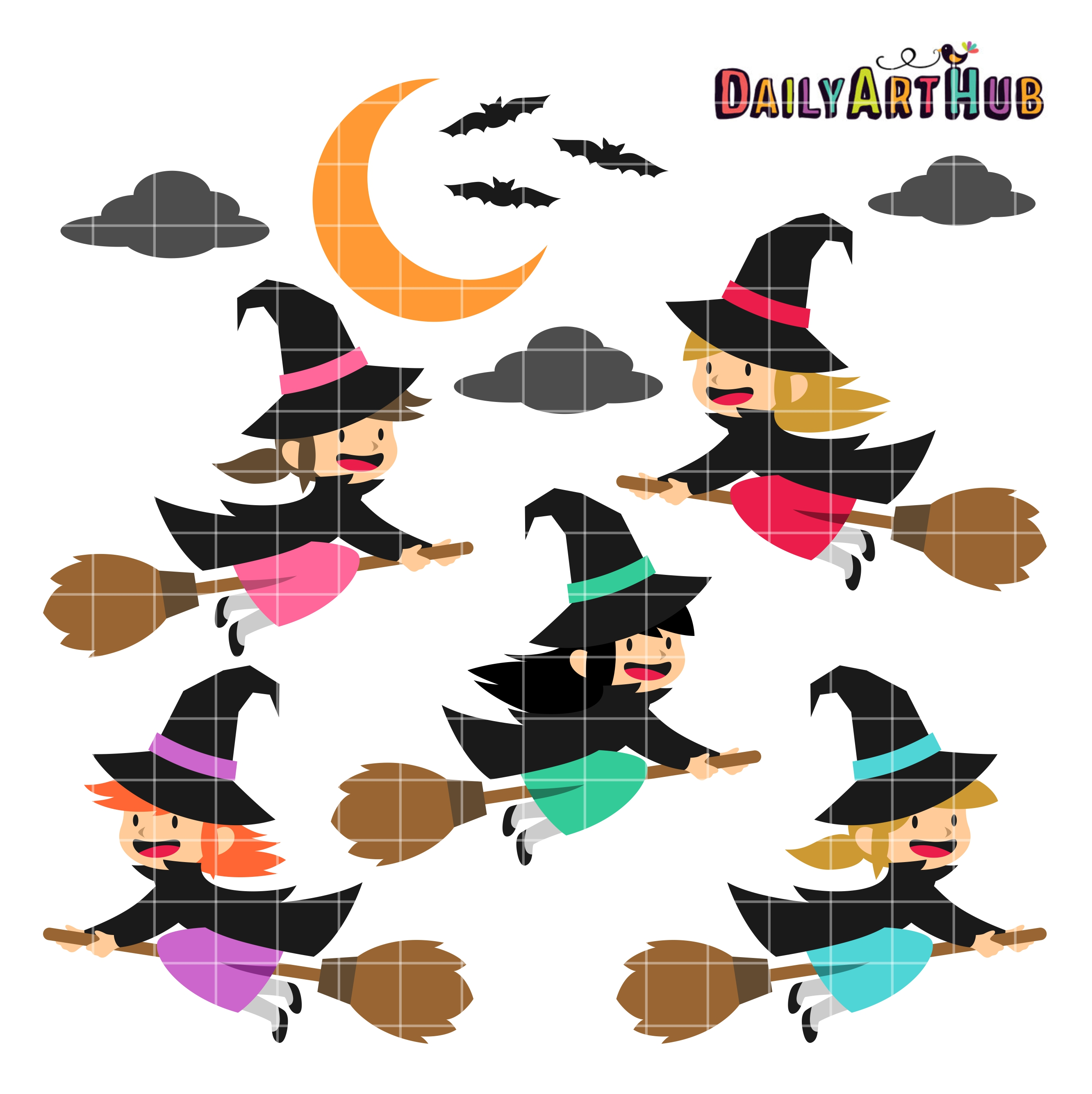 Witchcraft clipart cute witch Art Halloween Witches Hub Daily