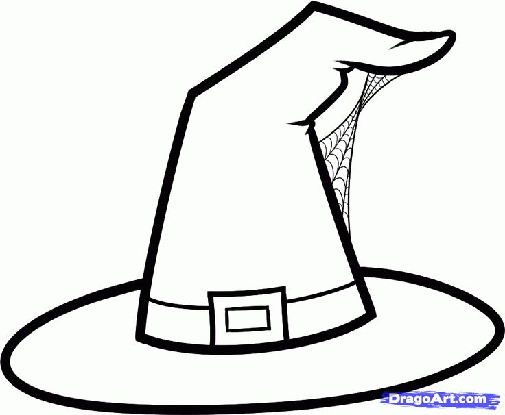 Witchcraft clipart halloween coloring Hat Festival Hat Printables Witch