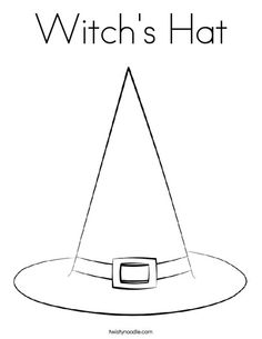 Witchcraft clipart halloween coloring Free Template Page Witch Page: