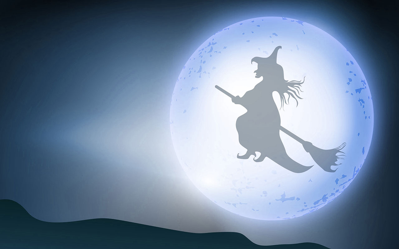 Witchcraft clipart halloween full moon Halloween Backgrounds witch and Wallpapers