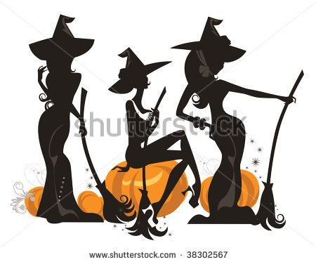Witchcraft clipart three Witches best 225 Witches 3