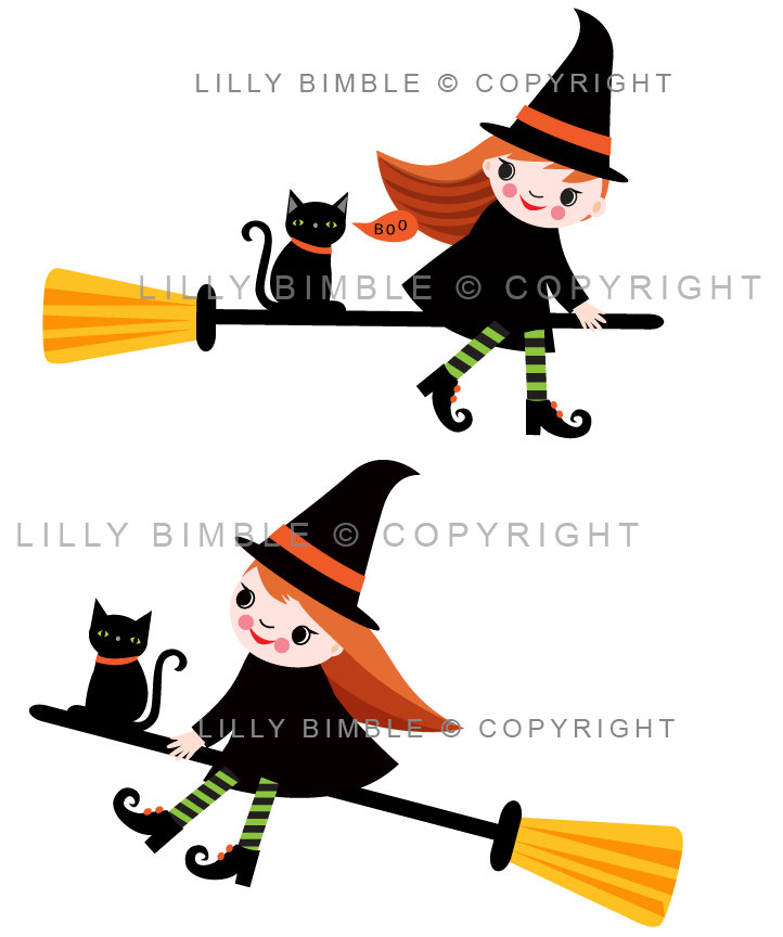 Witchcraft clipart witch cat Flying cat item? 80% off