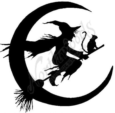 Witchcraft clipart witch cat Pinterest moon stamp Best Witch