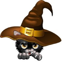 Witchcraft clipart witch cat Images Pinterest Cat clip art