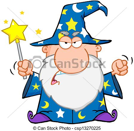 Wizard clipart angry Clip Waving With Vector Magic