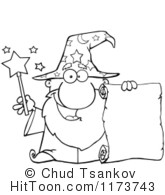 Wizard clipart black and white #11