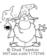 Wizard clipart black and white #12