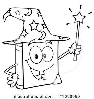 Wizard clipart black and white #14
