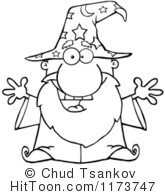 Wizard clipart black and white #1