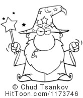 Wizard clipart black and white #2
