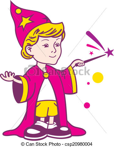 Wizard clipart boy Vector boy  on Clipart