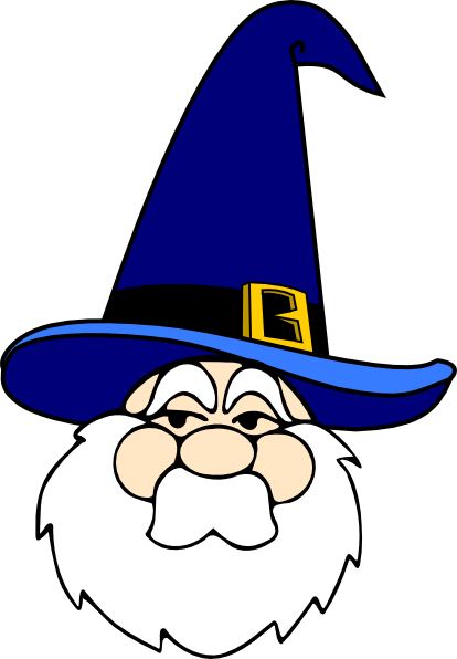 Wizard clipart cartoon As: Blue image clip In