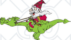 Wizard clipart dragon His Illustration Clipart Happy of