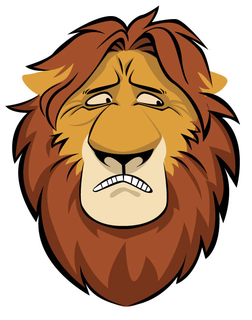 Wizard clipart face Free on Cartoon Lion Clip