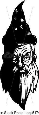 Wizard clipart face Wizard of Face Clipart white