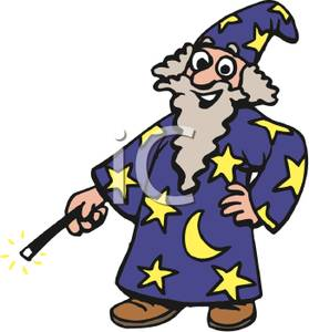 Wizard clipart magic wand Wizard Holding Magic Clipart Grinning