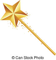 Wizard clipart magic wand Wand magic wand illustration golden