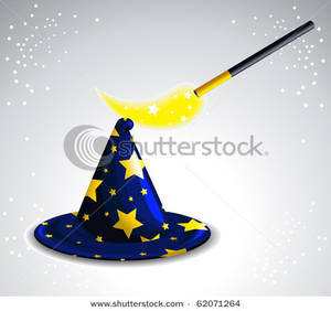 Wizard clipart magic wand Wand Waving a Hat Magic