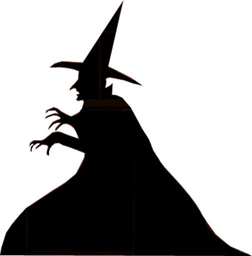 Shadows clipart witch Yard How Spooky Halloween Silhouettes