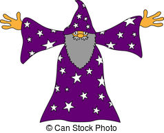 Wizard clipart spelling Illustration Wizard a Vector