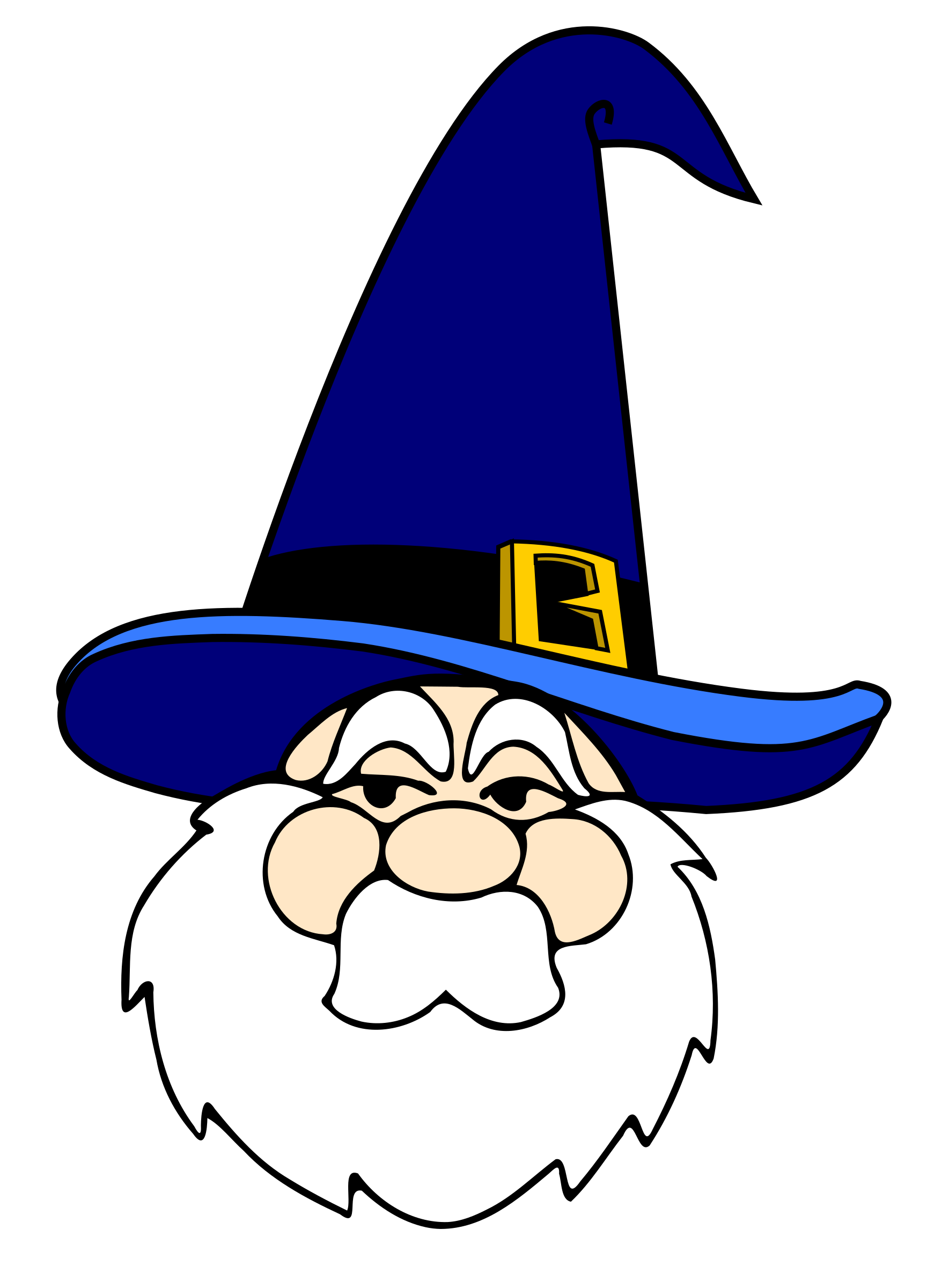 Wizard clipart transparent Blue in in hat hat