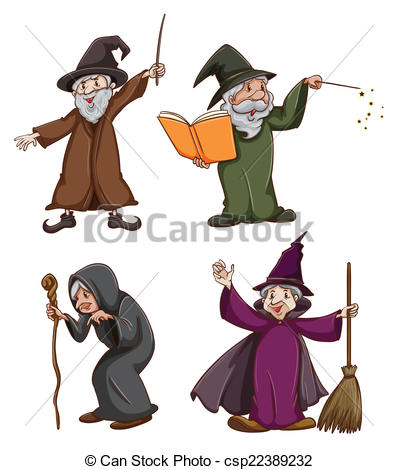 Wizard clipart witch And Illustration wizard Vector and