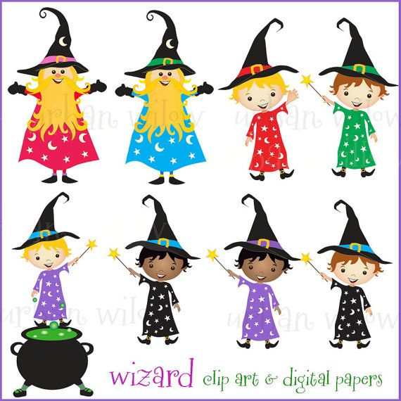 Wizard clipart witch Art image/ and set 60%