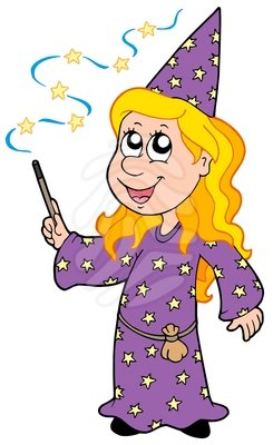 Wizard clipart woman #1