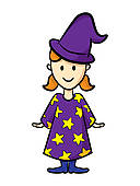 Wizard clipart woman #2